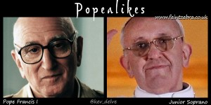 Pope Francis and Uncle Junior Soprano